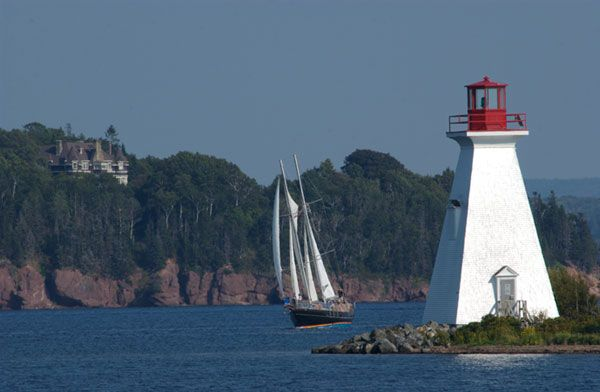 Sailing near Baddeck on the Bras dOr Lakes