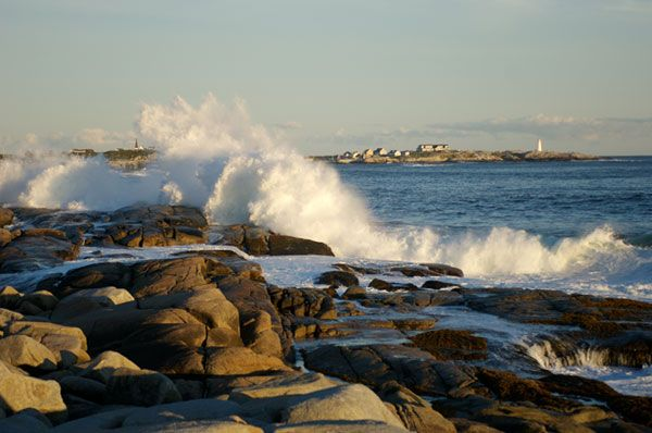 Crashing Waves Peggys Cove Nova Scotia