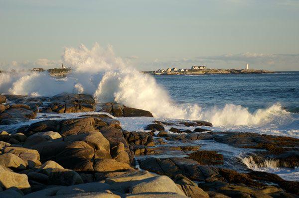 Crashing Waves Peggys Cove Nova Scotia